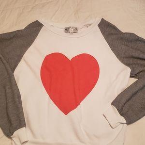 Adorable sweatshirt with heart design